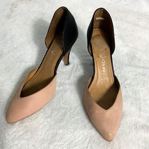 Jeffrey Campbell Pointed Toe Two Tone Heels